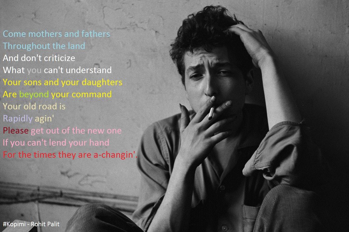 Bob Dylan fan picture by Rohit Palit
