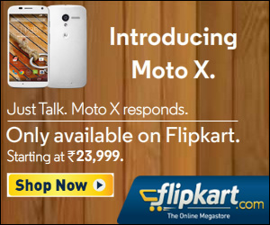 Official promotional banner of the Moto X.